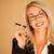 atraente · profissional · mulher · fumador · mulher · loira · belo - foto stock © stryjek