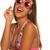 girl celebrating wearing birthday sunglasses on white stock photo © stryjek