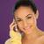 笑みを浮かべて · ブルネット · 携帯 · 美しい · 女性 - ストックフォト © stryjek