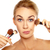 Humorous image of woman with makeup brushes stock photo © stryjek