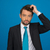 portret · knap · zakenman · Blauw · business · glimlach - stockfoto © stryjek