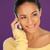 美人 · リスニング · 携帯 · 美しい · 笑顔の女性 · 会話 - ストックフォト © stryjek