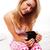 mulher · potável · manhã · café · atraente · jovem - foto stock © stryjek