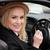 feminino · motorista · volante · mulher · condução - foto stock © stryjek