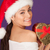 boldog · nő · karácsony · szív · ajándék · mikulás - stock fotó © stryjek