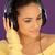 beautiful woman listening to music stock photo © stryjek