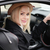 attractive blond woman at the wheel of her car stock photo © stryjek