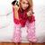 女性 · テレビ · 若い女性 · パジャマ · 座って - ストックフォト © stryjek