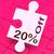 ötven · százalék · el · puzzle · árengedmény · vásár - stock fotó © stuartmiles