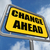 change ahead sign refers to a different and changing future stock photo © stuartmiles