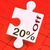 twenty percent off puzzle means reduction or sale 20 stock photo © stuartmiles
