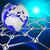 世界的な · 接続 · 蘭 · ネットワーク · コンピュータ - ストックフォト © stuartmiles