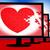 puzzle heart on monitors shows love stock photo © stuartmiles