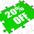 twenty percent off puzzle means discounted or sale 20 stock photo © stuartmiles
