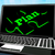 terv · puzzle · laptop · internet · gól · online - stock fotó © stuartmiles