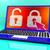 laptop · biztosíték · védelmez · pc · technológia · billentyűzet - stock fotó © stuartmiles