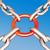 güçlü · bağlantı · 3d · render · zincir · kırmızı - stok fotoğraf © stuartmiles