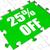 twenty five percent off puzzle means cut reduction or sale 25 stock photo © stuartmiles
