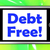 debt free on phone means free from financial burden stock photo © stuartmiles