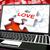 szeretet · puzzle · laptop · internet · randizás · virtuális - stock fotó © stuartmiles