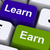 Learn And Earn Computer Keys Showing Working Or Studying stock photo © stuartmiles