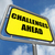 challenges ahead sign shows to overcome a challenge or difficult stock photo © stuartmiles