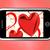 kırmızı · kalpler · hareketli · göstermek · sevmek · romantizm - stok fotoğraf © stuartmiles