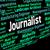 journalist job shows war correspondent and columnist stock photo © stuartmiles