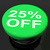 twenty five percent button shows sale discount or 25 off stock photo © stuartmiles