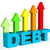 increase debt indicates financial obligation and debts stock photo © stuartmiles