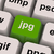 Jpg Key Shows Image Format For Internet Pictures stock photo © stuartmiles