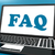 faq on laptop shows solution and frequently asked questions onli stock photo © stuartmiles