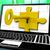 sleutel · slot · laptop · geheimhouding · privacy · internet - stockfoto © stuartmiles
