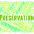 preservation word represents earth friendly and conserving stock photo © stuartmiles