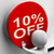 ten percent off button shows 10 markdown sale stock photo © stuartmiles