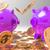 Raining Coins On Piggybanks Shows Richness stock photo © stuartmiles