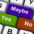 maybe yes no keys representing decisions stock photo © stuartmiles