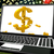 dollar symbol on laptop shows online currency exchange stock photo © stuartmiles