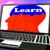 learn on brain on laptop shows online education stock photo © stuartmiles