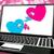 due · cuori · laptop · amore · impegno · relazioni - foto d'archivio © stuartmiles