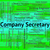 company secretary means clerical assistant and administrator stock photo © stuartmiles