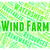 wind farm word represents green energy and energize stock photo © stuartmiles