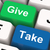 give take keys show generous and selfish stock photo © stuartmiles