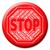 stop · piros · pecsét · fehér · törvény · gomb - stock fotó © stuartmiles