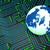 circuit board shows globally worldwide and electronics stock photo © stuartmiles
