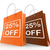 twenty five percent off on shopping bags shows 25 bargains stock photo © stuartmiles