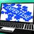 bilmece · defter · muhteşem · bilgisayar - stok fotoğraf © stuartmiles