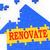 helyreállítás · ház · munka · szigetelés · házbelső · kívül - stock fotó © stuartmiles