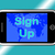 sign up mobile message shows online registration stock photo © stuartmiles
