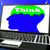 Think On Brain On Laptop Shows Solving Problems Online stock photo © stuartmiles